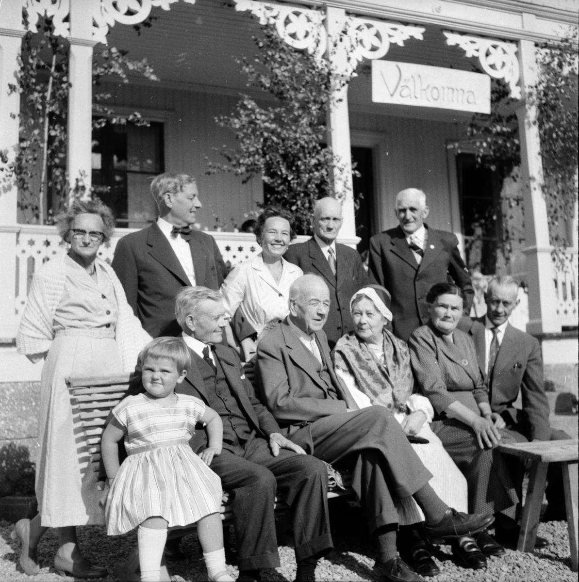 Släktmöte på Hada. Arbrå 27/7 1958