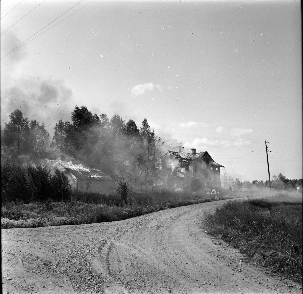 Ljusdal, Letsbo, Eldsvåda, Augusti 1968
