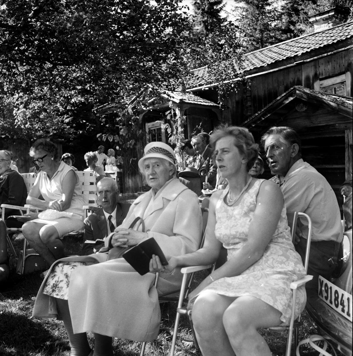 Arbrå, Gudstjänst på Möckelåsen, Augusti 1970