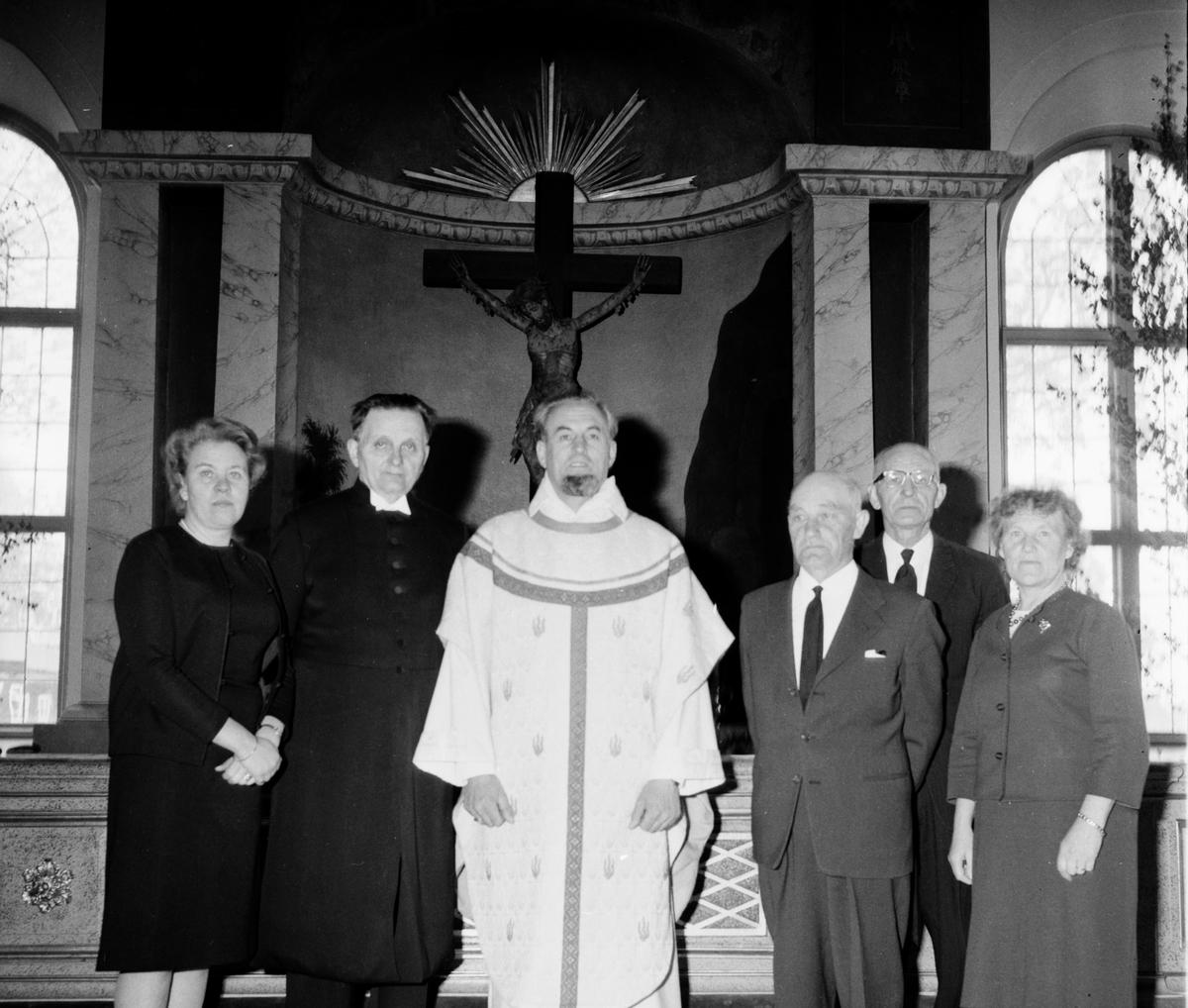 Persson Olle Segersta sista predikan i hemkyrkan 30/5-1965. I Arbrå 31/5-1965.