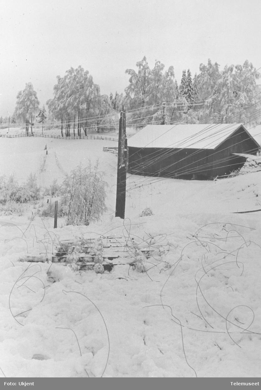 Snøskader på linjekurs nedenfor Bærums Verk