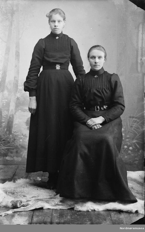 Portrett av to kvinner. Mor og datter?