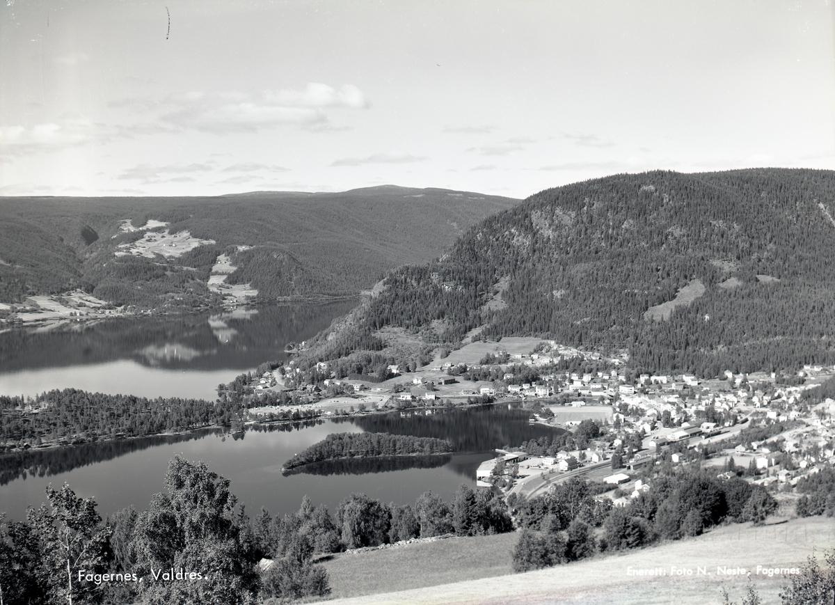 Fagernes sett fra Ranheimsbygda. Nord-Aurdal.