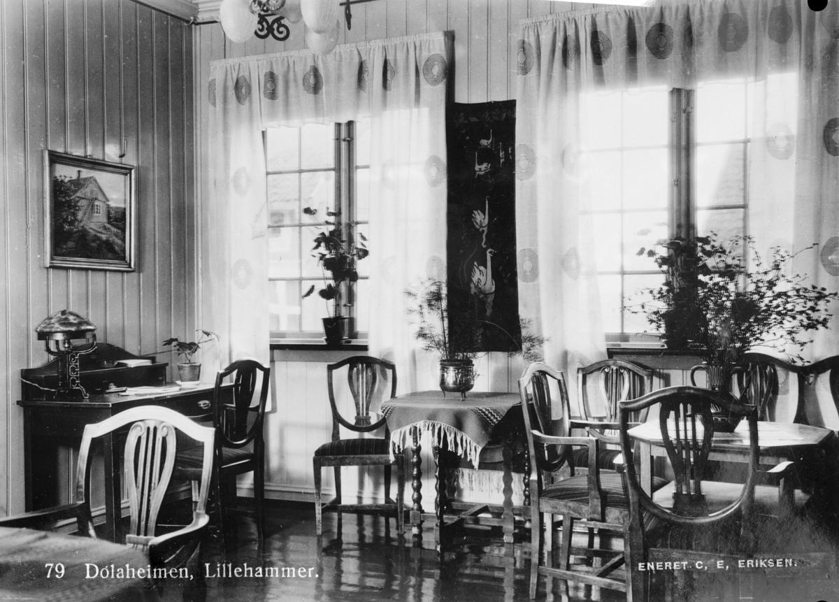 Interiør fra Dølaheimen hotell i Lillehammer.