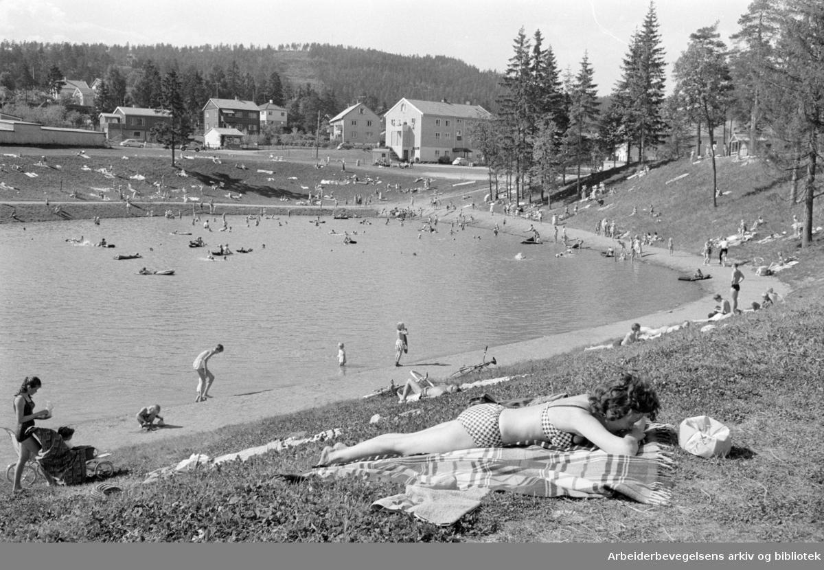 Tonsen: Badedammen. Juni 1963