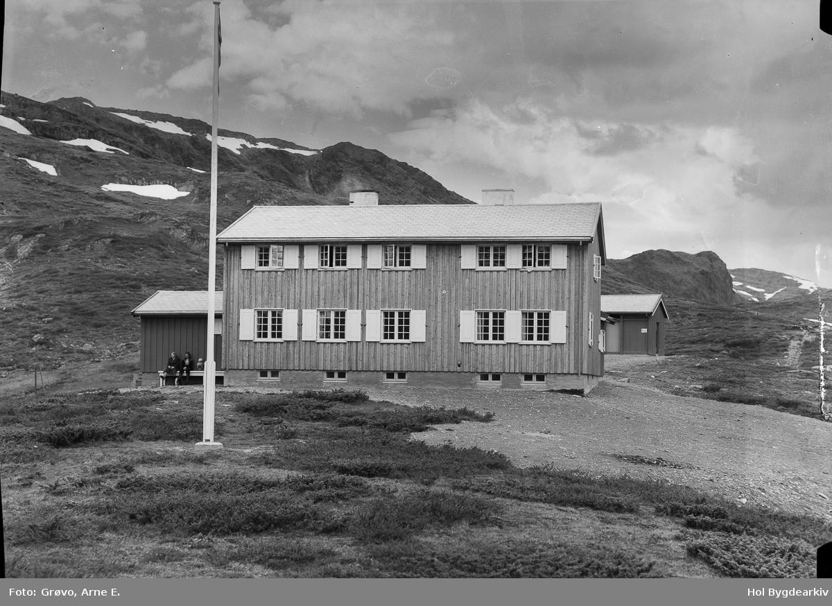 Turisthytte, Iungsdalen, toetasje, høgfjell, Flaggstang, hus
