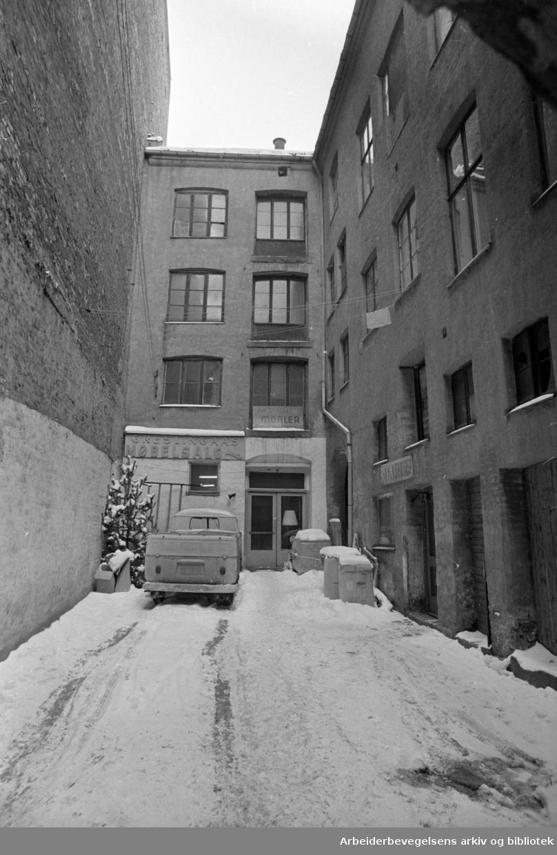 Storgata. Ny passasje gjennom til Storgata 11. Februar 1969
