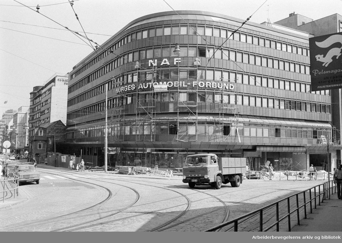 Storgata: NAF-huset. Juli 1973