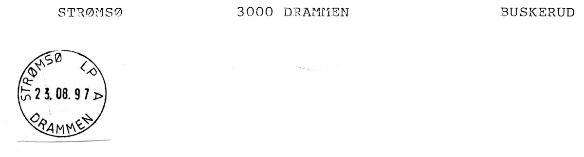 Stempelkatalog Strømsø 3000 Drammen, Drammen kommune, Buskerud