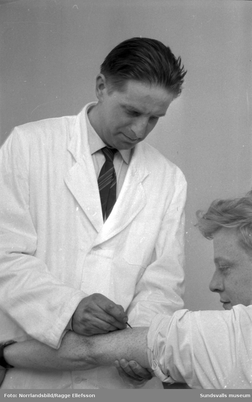 Smittkoppsvaccinering i Timrå.