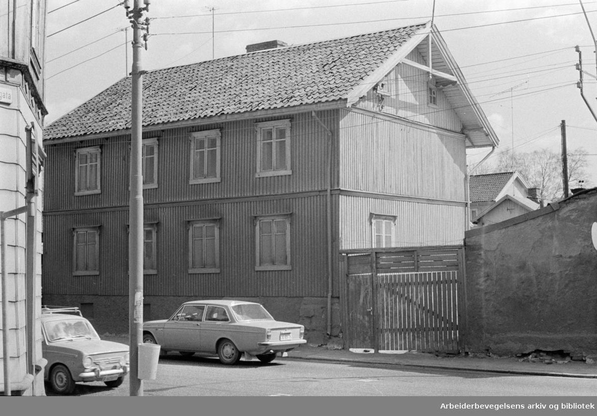 Vålerenga. Strømsveien 35. Mai 1971