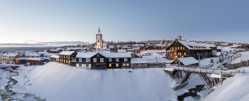 Malmplassen, Røroskirka, Smelthytta panorama (Foto/Photo)