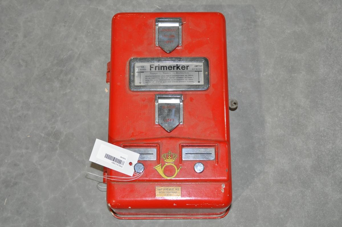 Automat for kjøp av frimerker utenom postkontorets åpningstid.