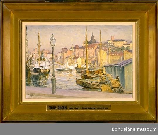 Torg och hamn i Gamla stan, Stockholm, Sverige