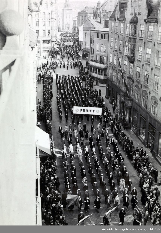 1. mai 1939, Grensen. Parole: Frihet.