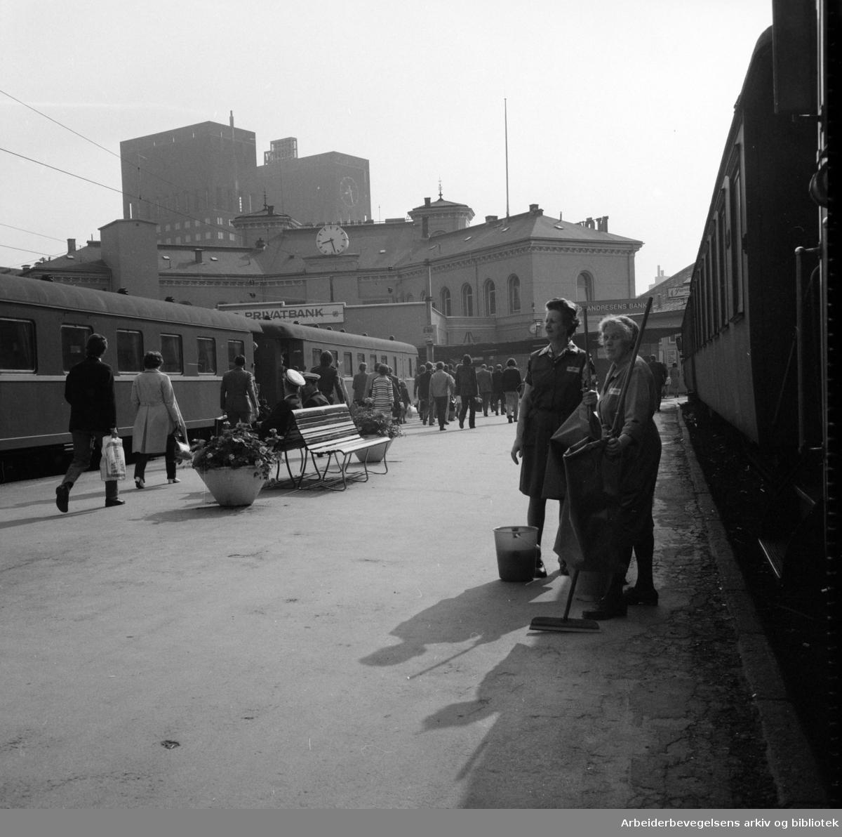 Vestbanestasjonen. Mai 1973