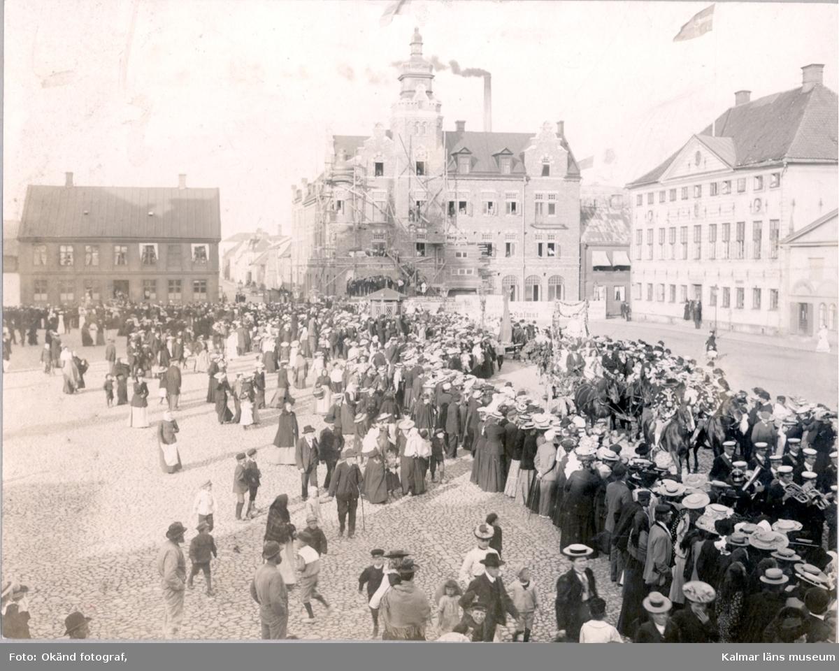 Procession på Stortorget, troligen 1905.