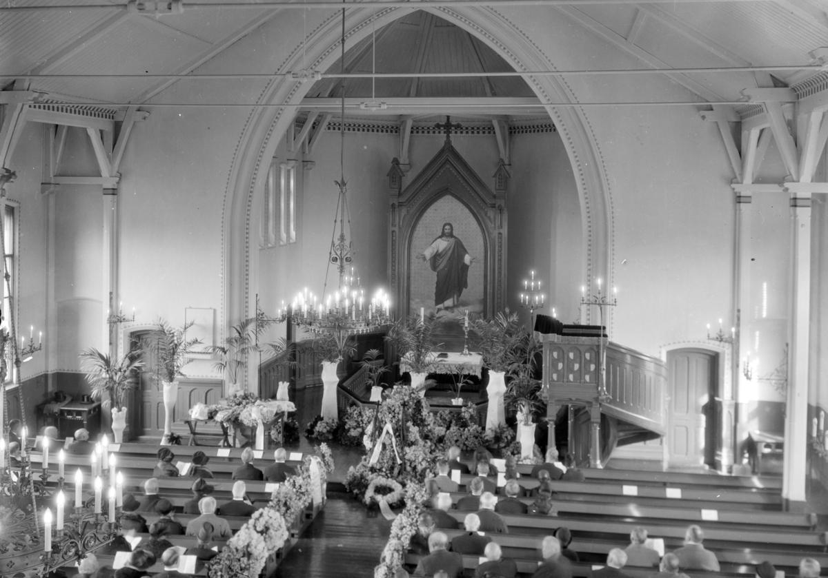 Johan Filseths begravelse i Lillehammer kirke 1927.