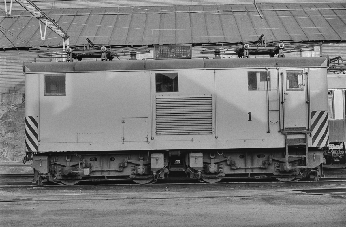 Thamshavnbanens elektriske lokomotiv nr. 1.