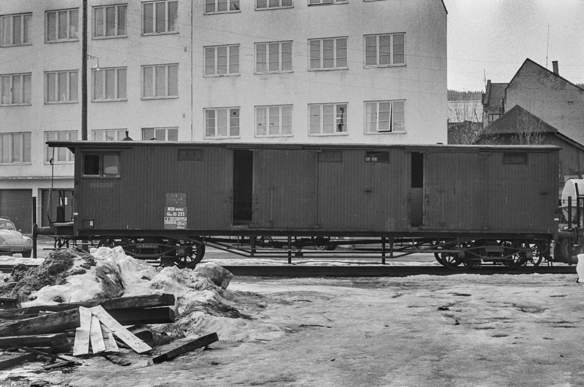 Godsvogn type Gfo2 nr.10233 i Drammen.