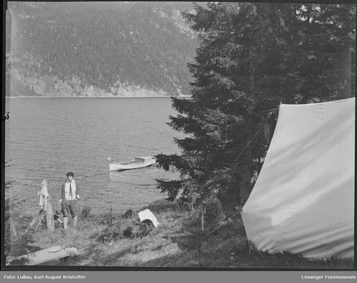 Fra Mosvika Verranområdet, telting på gammel tomt,