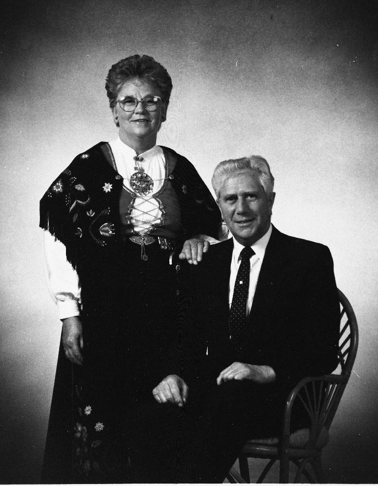 Ingrid Ånestad 16.7.1923 - 7.1.2011) og Norvald Steinsland (31.5.1923 - 24.2.1990)