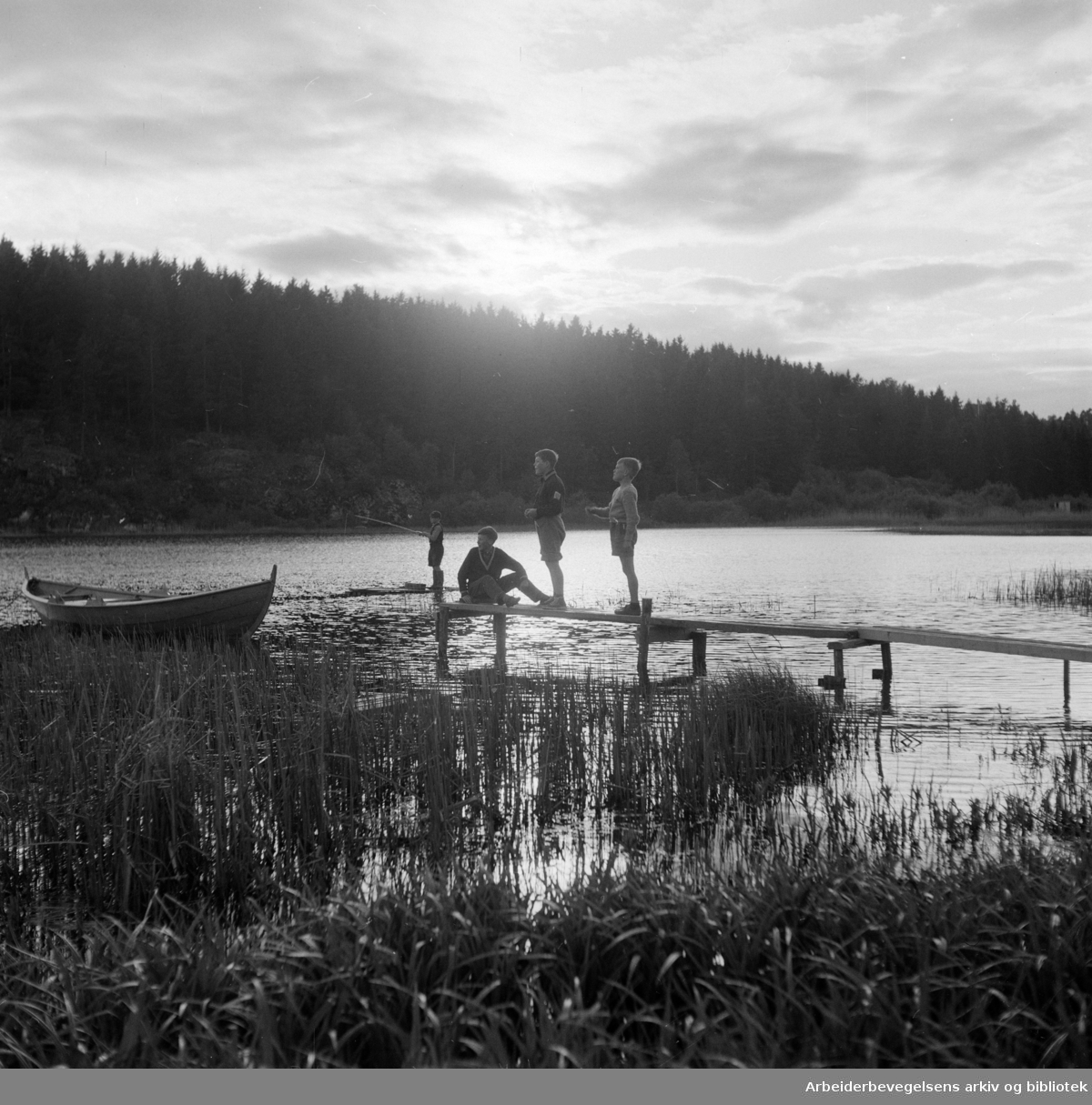 Østensjøvannet. Mai 1953