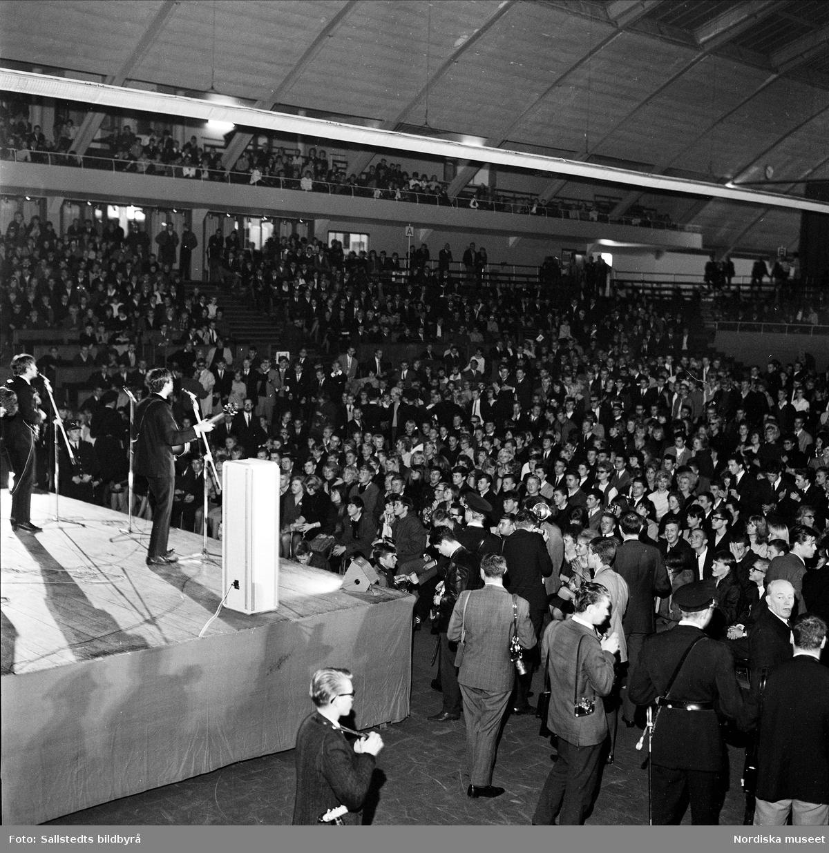 The Beatles på scen. Kungliga Tennishallen, Stockholm.