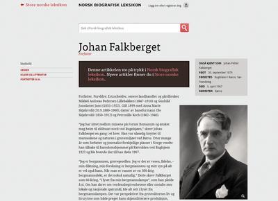 Falkberget - Norsk Biografisk Leksikon