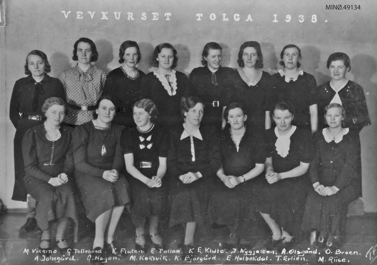 Vevkurs på Tolga, 1938.