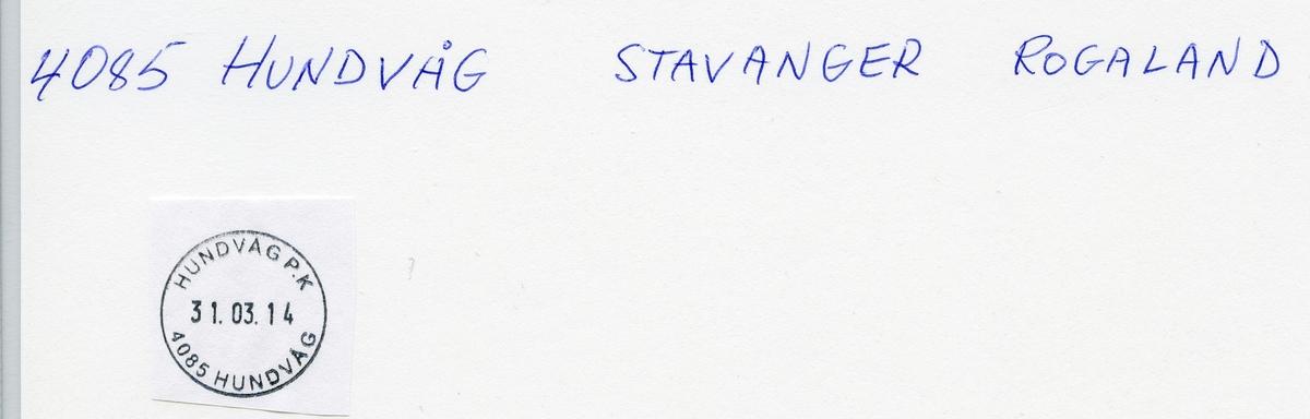 Stempelkatalog 4020 Hundvåg (Stavanger B, Buøy), Stavanger, Rogaland