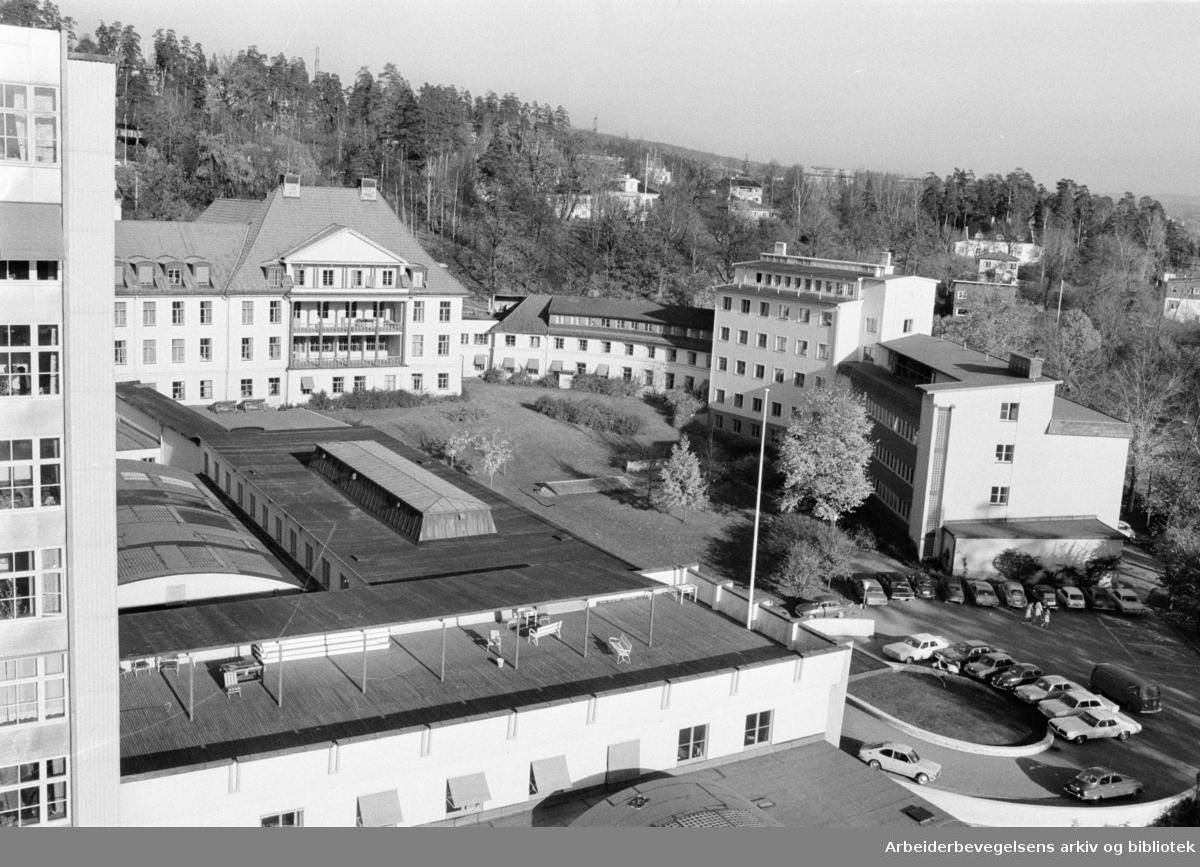 Radiumhospitalet. Oktober 1971