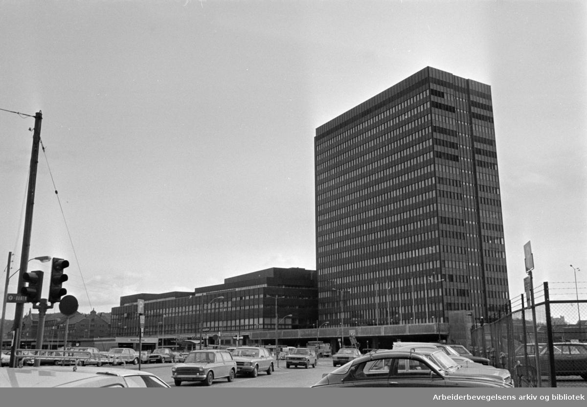 Postgirobygget. April 1976