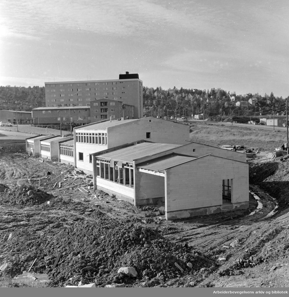 Manglerud barnehage og daghjem. Oktober 1963