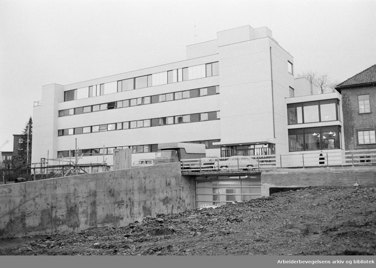 Markushjemmet. Alders og sykehjem. Desember1972