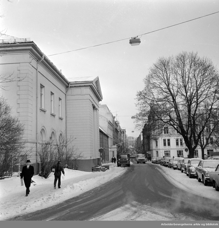 Kongens gate. Januar 1969