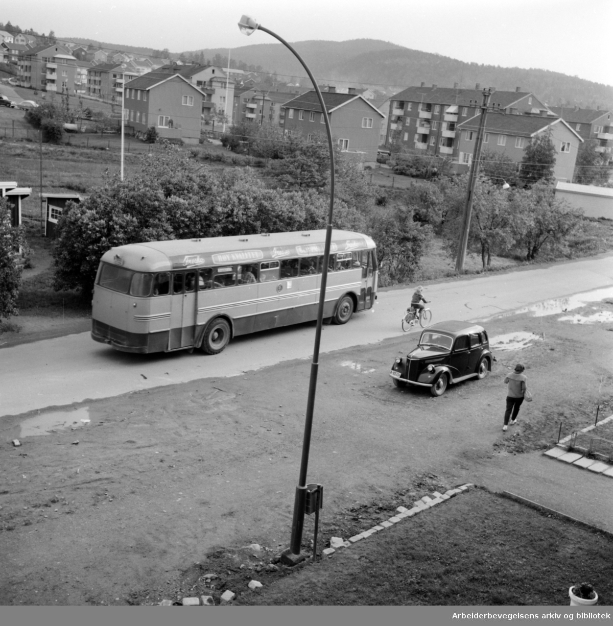 Kalbakken. Kalbakkveien. Juni 1961