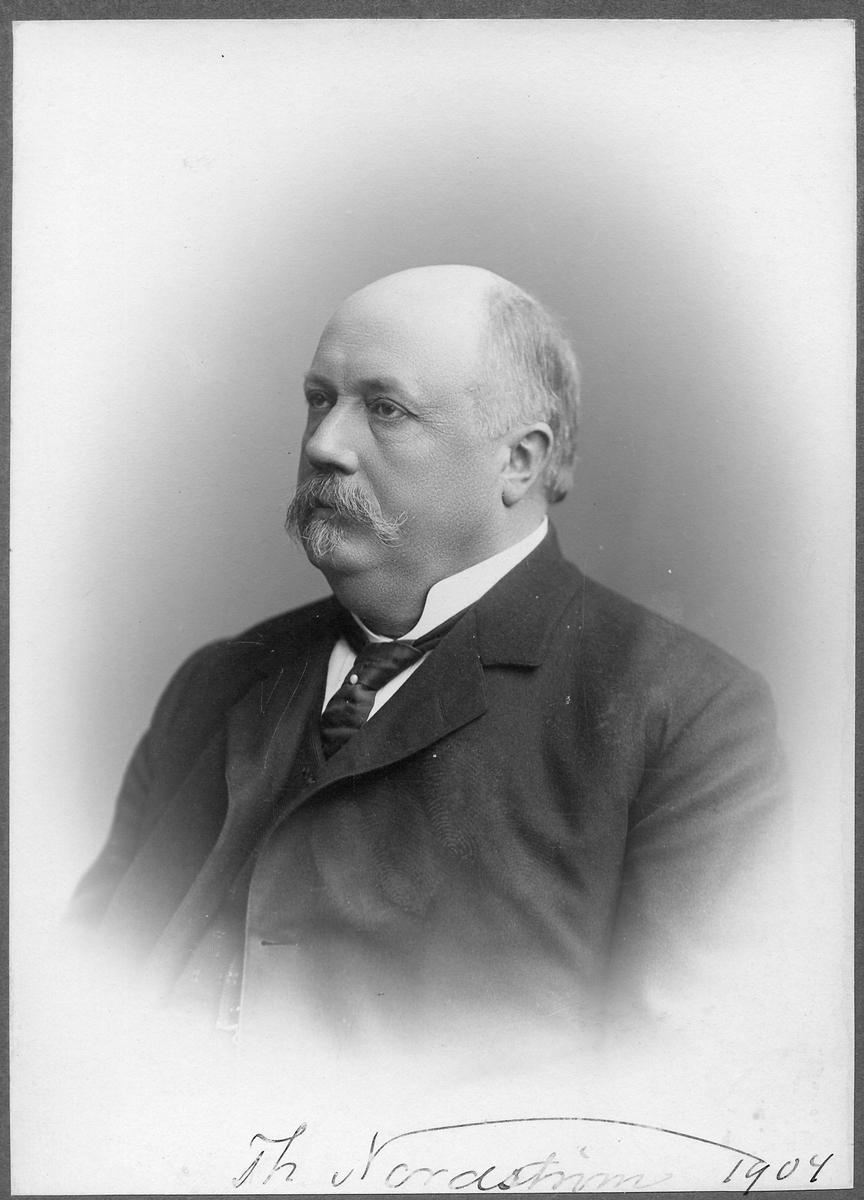 K F Theodor Nordström, generaldirektör vid Statens Järnvägar 11/11 1897 - 23/9 1904.