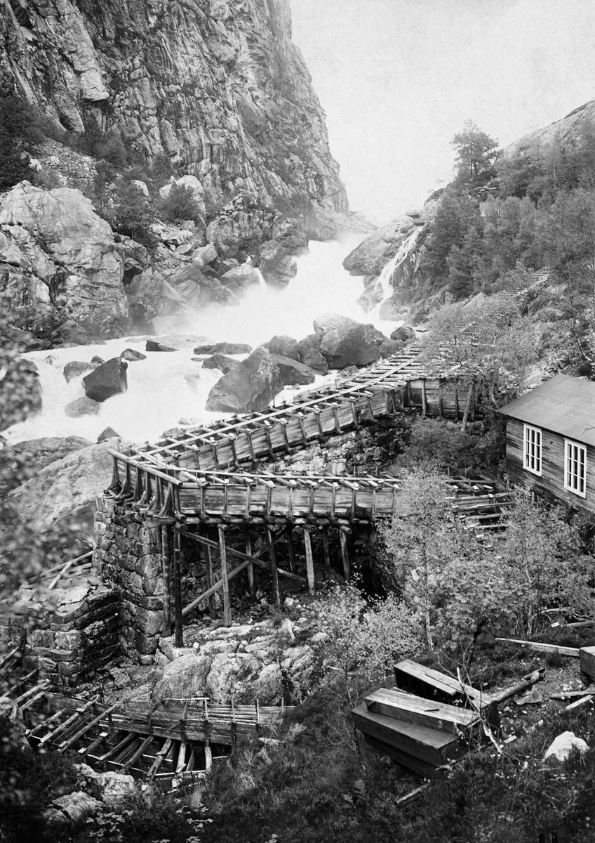 Laksetrapp i Rjukanfossen elva Sira i Vest-Agder. (Foto/Photo)