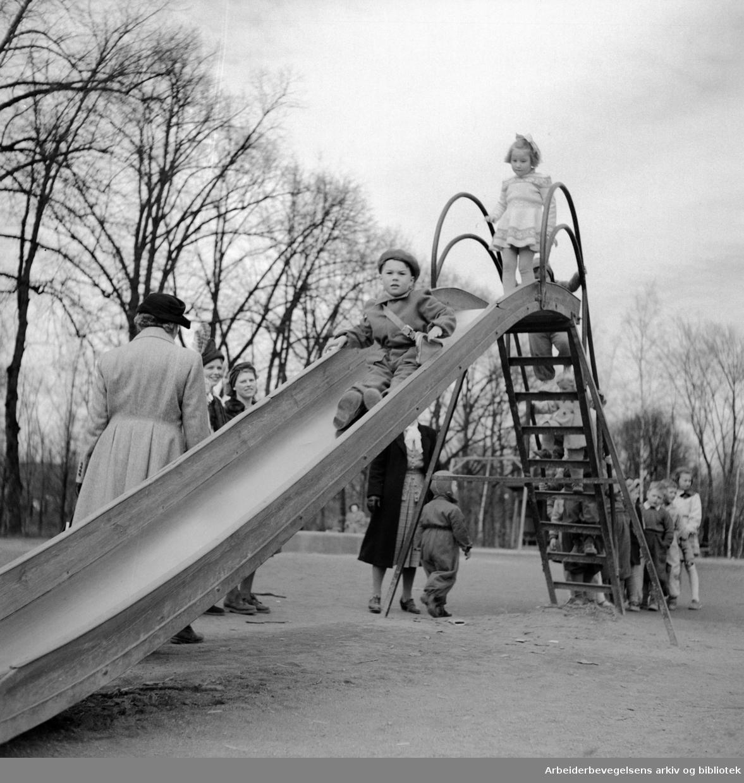 Frognerparken. Påsken 1950