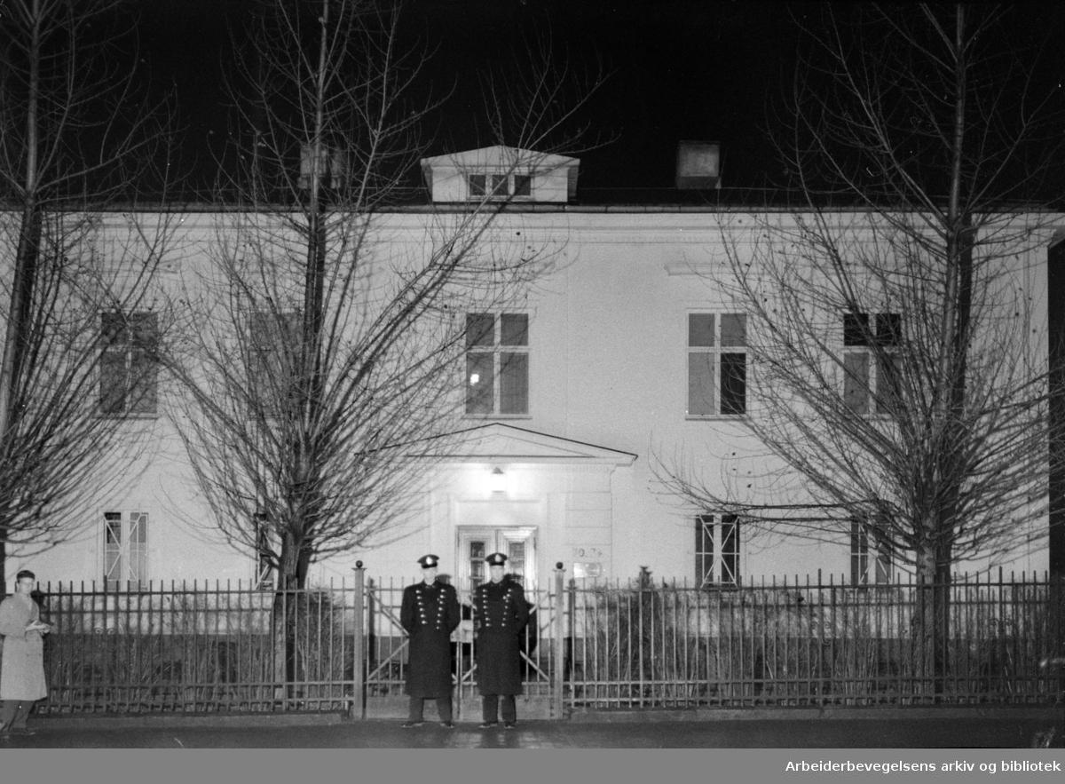 Drammensveien 74. Sovjets ambassade. November 1956