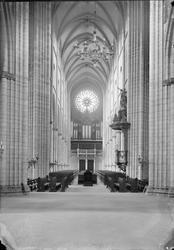Vy mot orgelläktaren efter restaureringen, Uppsala domkyrka,