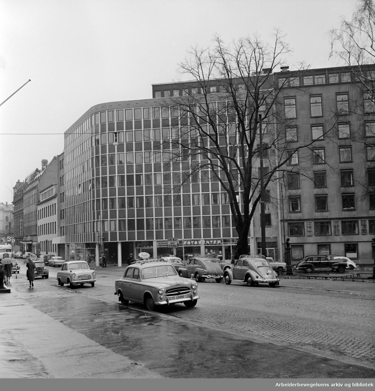 Centralkirken i St. Olavs gate. Februar 1961