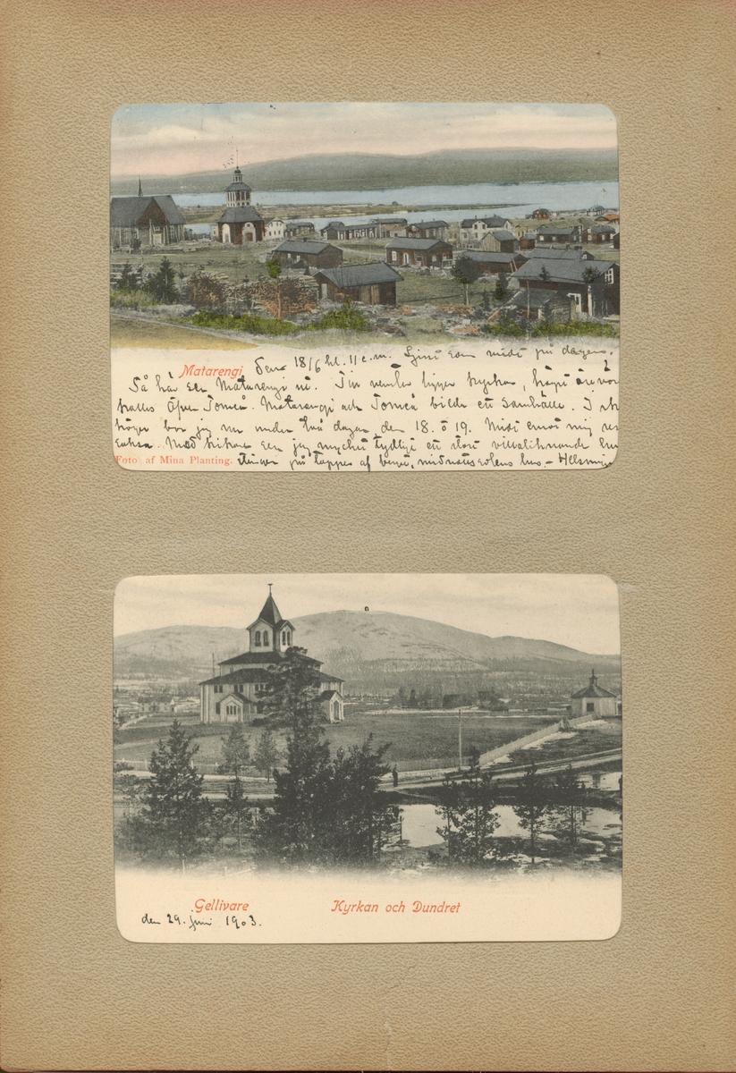 """Text i fotoalbum: """"Gellivare. Kyrkan och Dundret."""""""