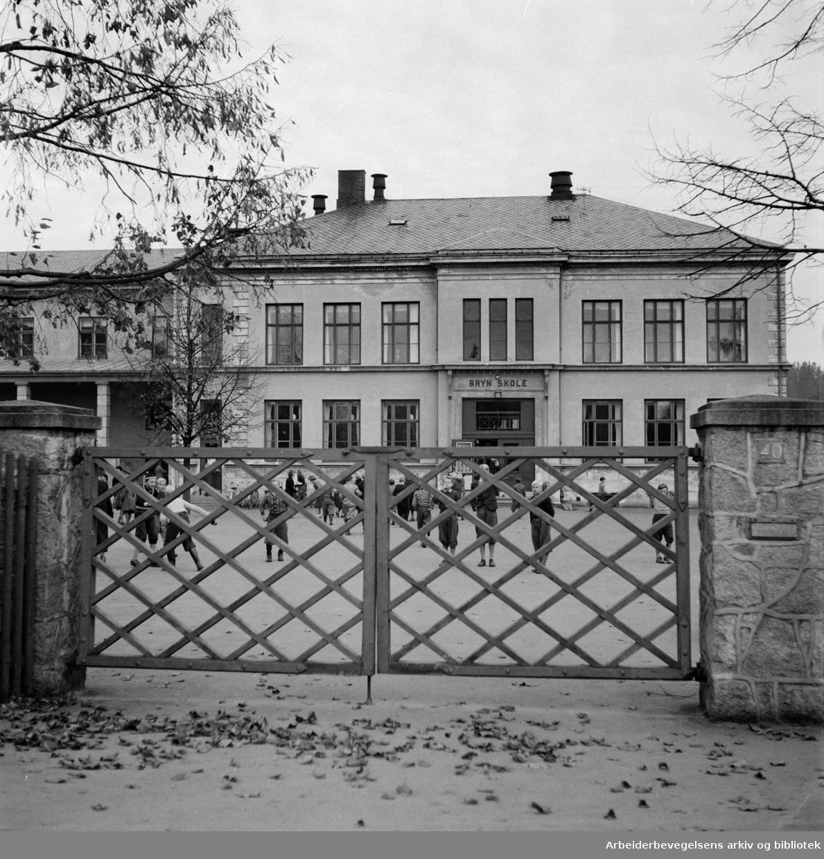 Bryn skole. September 1954