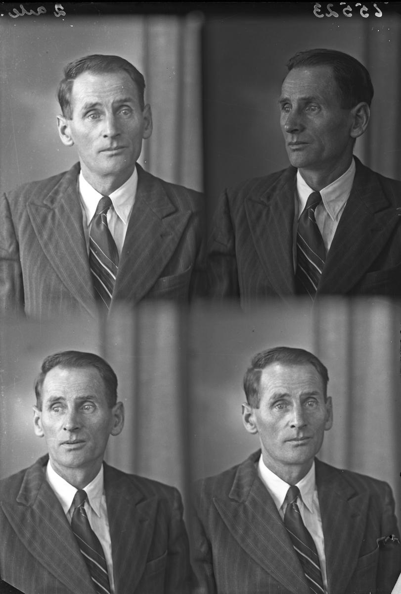 Portrett. Mann. Passbilder. Bestilt av Sigurd Lauritsen. Småvik. Nøtterøy.