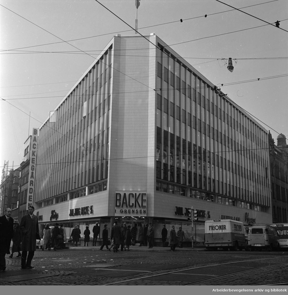 Backegården i Grensen, åpnet. November 1964