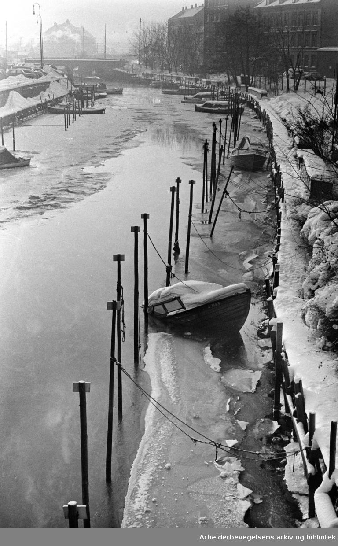 Akerselva. Januar 1963