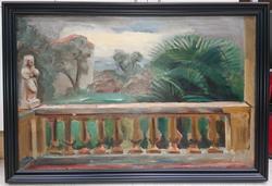 Utsikt fra balkong [Maleri]