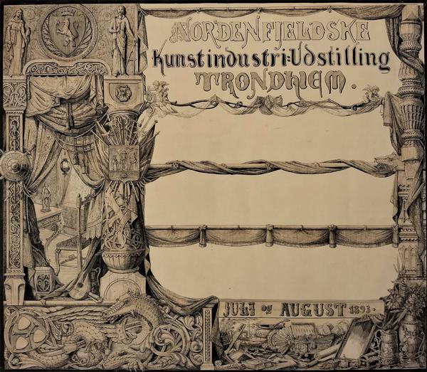 Plakat for Nordenfjeldske Kunstindustriutstilling. Foto/Photo
